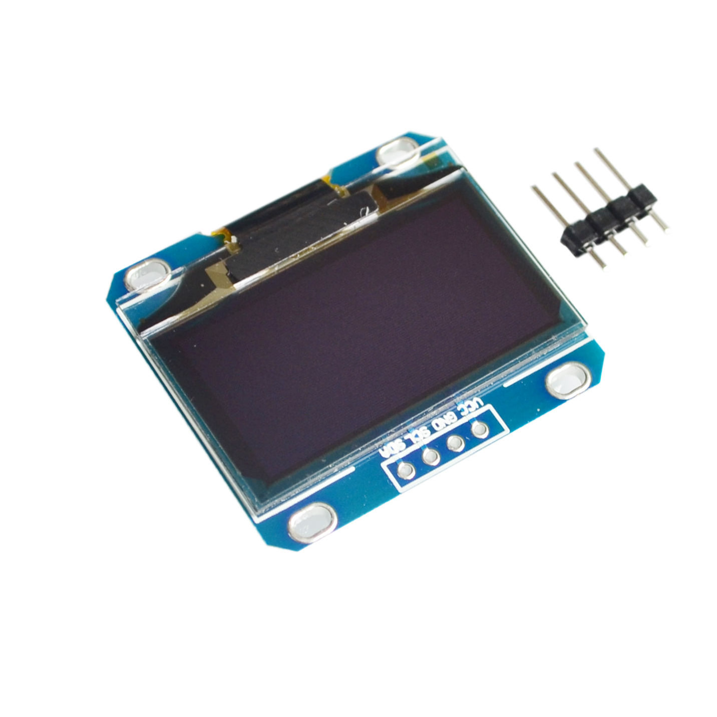 """10PCS/LOT 1.3"""" OLED module white or blue color 128X64 1.3 inch OLED LCD LED Display Module 1.3"""" IIC I2C Communicate-in LCD Modules from Electronic Components & Supplies    1"""