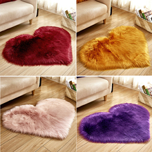 Heart Shaped Fluffy Carpet Shaggy Faux Fur Rug For Home Living Room And Mat Children Dining Floor Nordic Bedroom