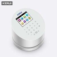KERUI W2 WiFi PSTN GSM панель беспроводной сигнализации домашняя охранная система безопасности приложение управление Совместимо с RFID IP камера PIR дет...