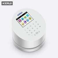 KERUI W2 WiFi PSTN GSM Wireless Alarm Panel Home Burglar Security System APP Control Compatible with RFID IP Camera PIR Detector