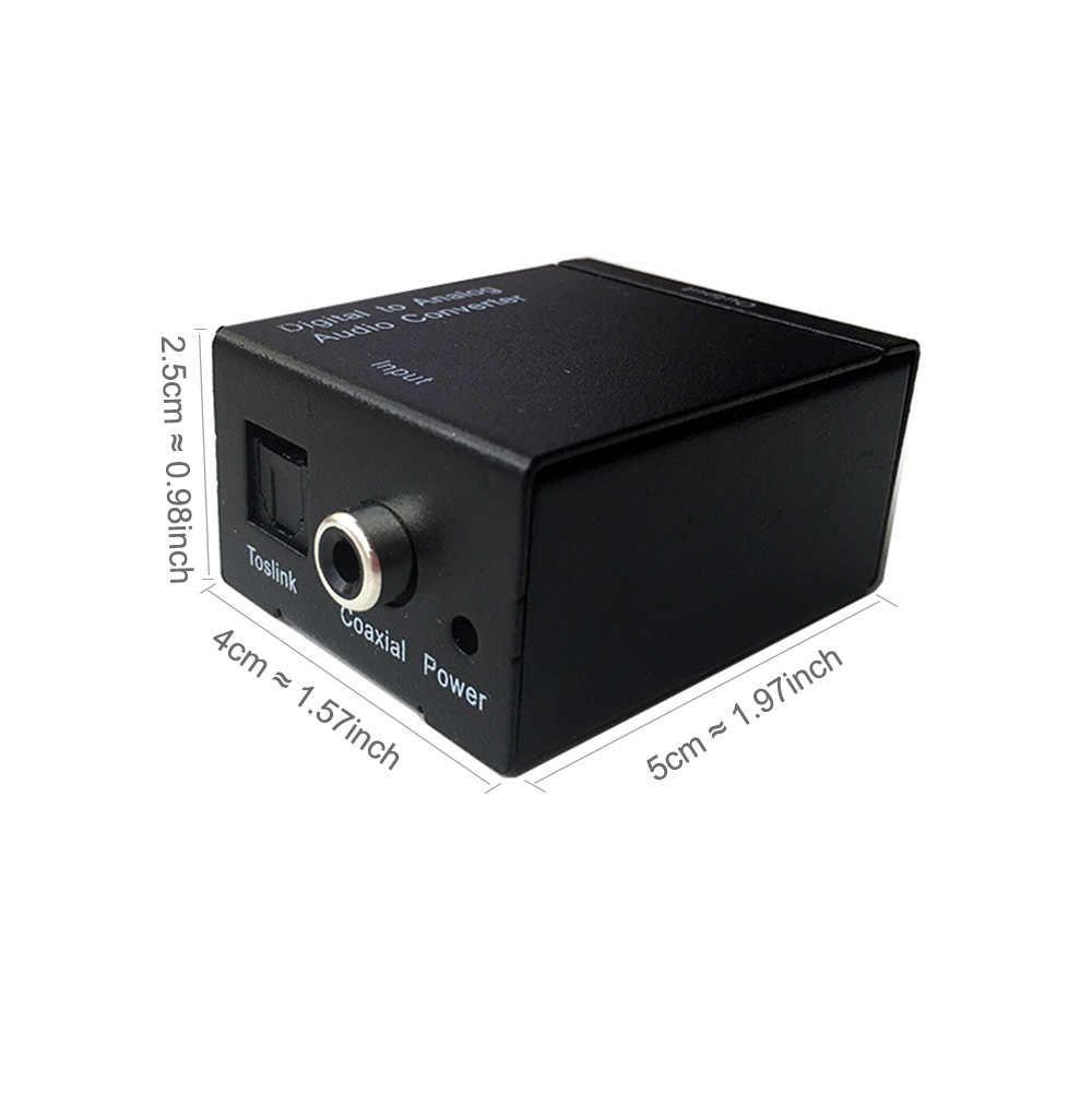 RCA L/R cyfrowego na analogowy Audio L/R konwerter z włókna optycznym koncentryczny RCA sygnału SPDIF na analogowy dekoder dźwięku wzmacniacz DAC