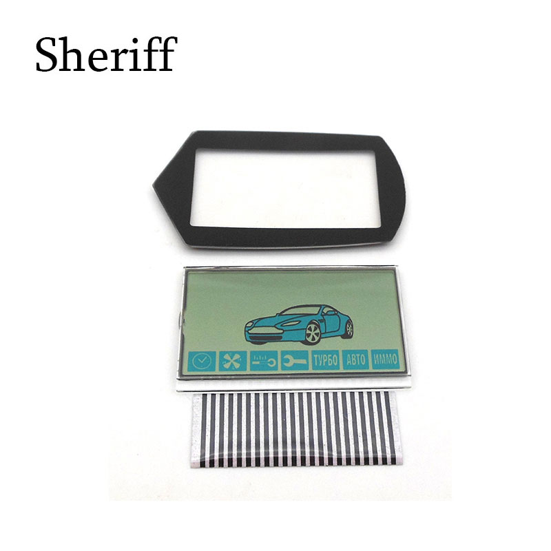 SHERIFF A91 Flexible Cable A91 LCD Display+ Keychain Glass Case For Starline A91 Lcd Remote Control Key Chain Zebra Stripes