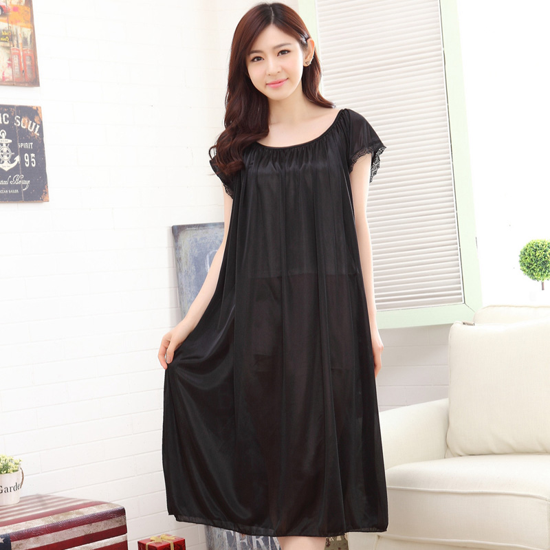 Bejirog 2018 Sexy Sleep Clothing New Nighties Lingerie Homedress Women   Nightgowns   Silk   Sleepshirts   Sleeveless Sleepwear Summer