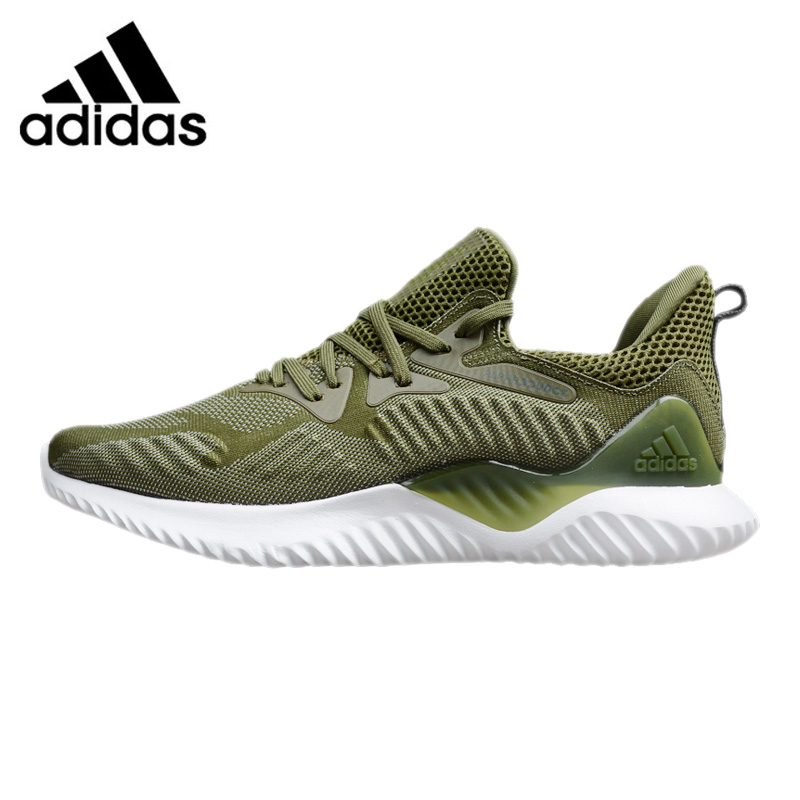 Adidas Alphabounce Beyond Men Running Shoes,Beige Green, Abrasion Resistant Non-Slip Support CG4763 BW1247 EUR Size M