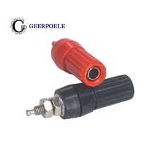 цена на 2 pcs/lot 4mm Plum M4*45 Cold Pressure Connectors Audio Plug Horn Plastic Solderless DIY