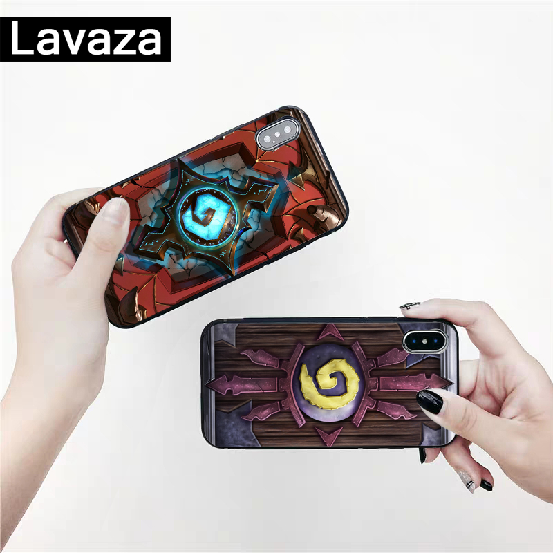 Lavaza Hearthstone classic Silicone Case for iPhone 5 5S 6 6S 7 8 11 Pro Plus X XR XS Max in Fitted Cases from Cellphones Telecommunications
