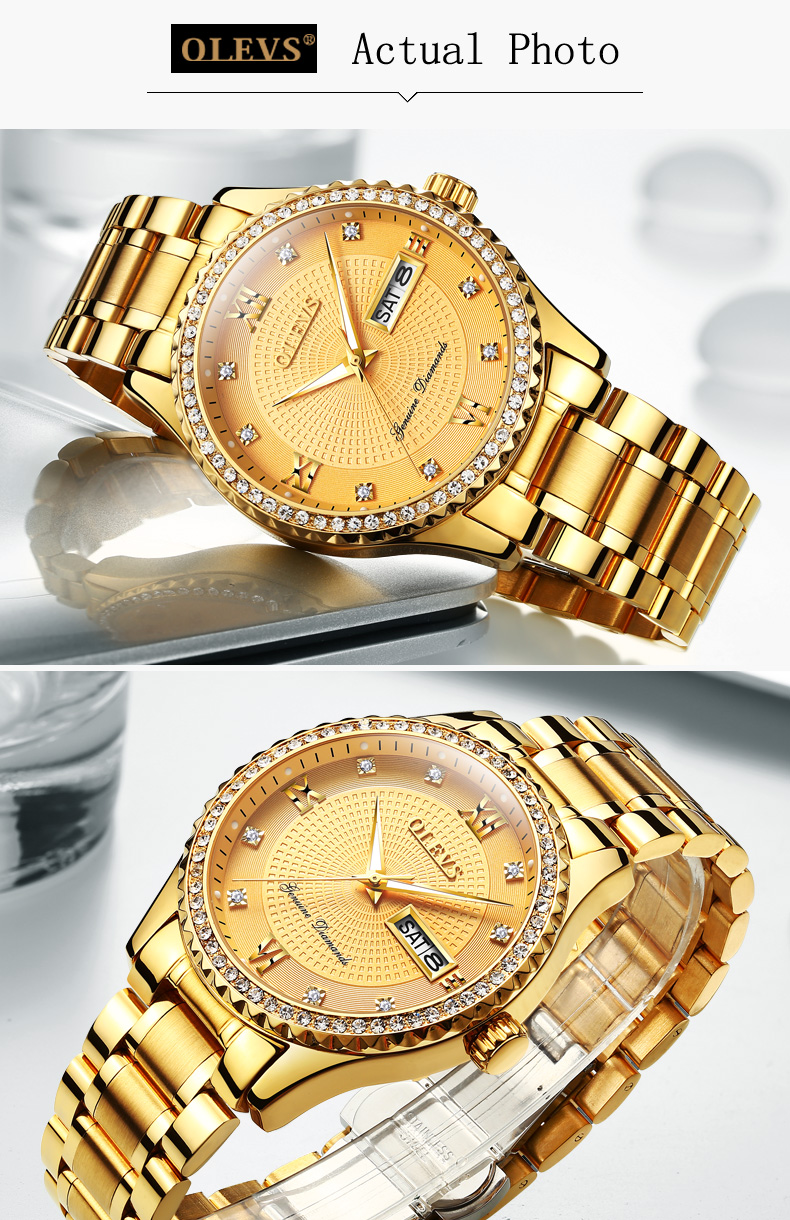 64acbe7783c model number  OLEVS 6618. Watch glass  Hardlex crystal glass with coating  film. Watchbands  Cowhide Band Strap Watch case  Case Alloy