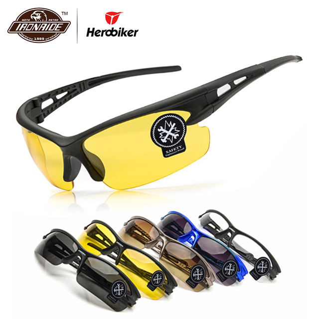 d40c1537d485a Óculos de Visão Noturna Homens da motocicleta Moto Óculos de Proteção UV  Óculos de Sol Óculos
