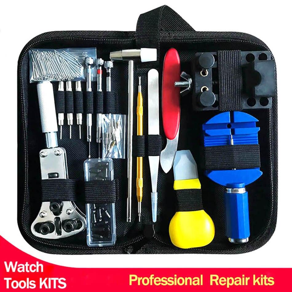 Professional Watch Repair Tool Kit Watchmaker Tools Watch Case Opener Adjustable Strap Pin Watch Accessories horloge gereedschap