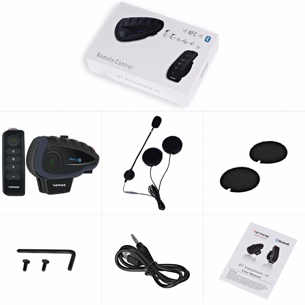 Image 5 - 2PCS 5 Riders V8 Bluetooth Intercom Moto Helmet NFC Motorcycle  Handlebar Remote Control Communicator Helmet Headset with FM  radioHelmet Headsets   -