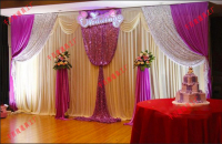 Romantic Wedding banquet decoration stage background curtain 3mx6m Wedding backdrop wholesale marriage fabric
