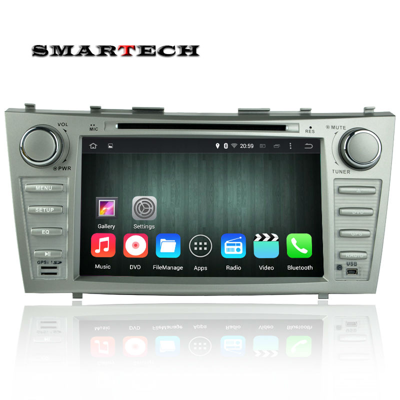 2 din Android 5 1 1 car stereo GPS navigation for TOYOTA CAMRY 2007 2011 Quad