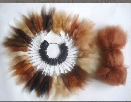 15g Blonde Brown Color Mohair DIY Reborn Dolls Wig Handmade High Quality Mohair Realistic Dolls Hair Reborn Baby Accessories