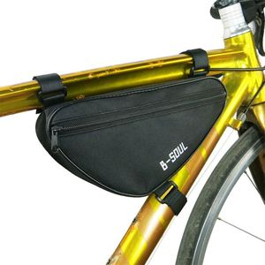 Outdoor Cycling Front Bag Waterproof Outdoor Triangle Bicycle Front Tube Frame Bags for Mountain Cycling Road Cycling