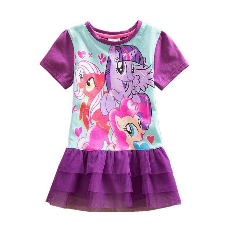 Neat retail baby girl ropa de vestidos de niña de verano  mi little pony pretty