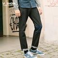 VIISHOW Homens de Calças Jeans Preto Homens Robin Masculina Pantalones Vaqueros Hombre Homme Jean Afligido Patchwork denim Jeans masculino