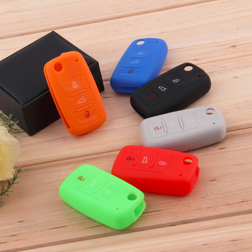 Universal Silicone Car Key Holder Case Cover Candy Color Turma do - Car Interior Accessories - Photo 5