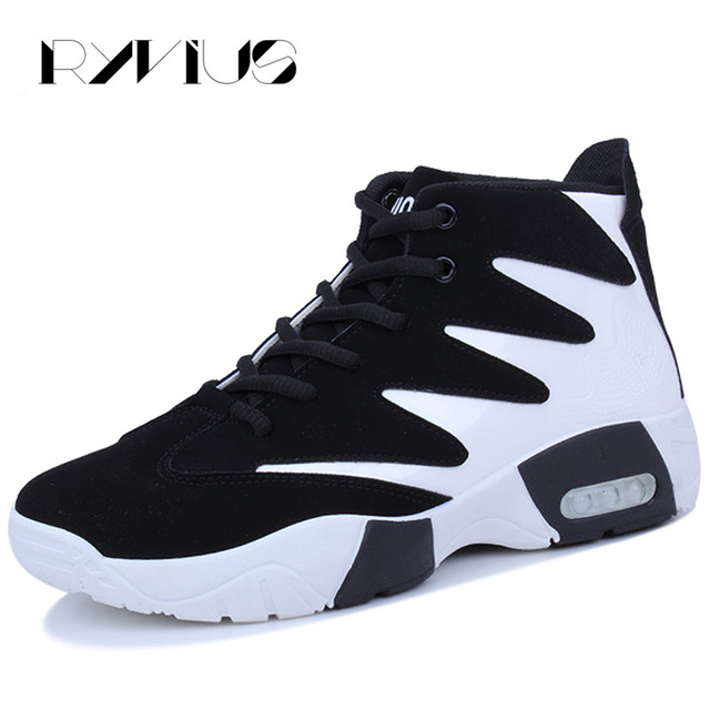 0c551064d6654 Ryvius Men Running Shoes High Top Sport Air Cushion Sneakers Outdoor  Athletic Male Trainers Walking Jogging
