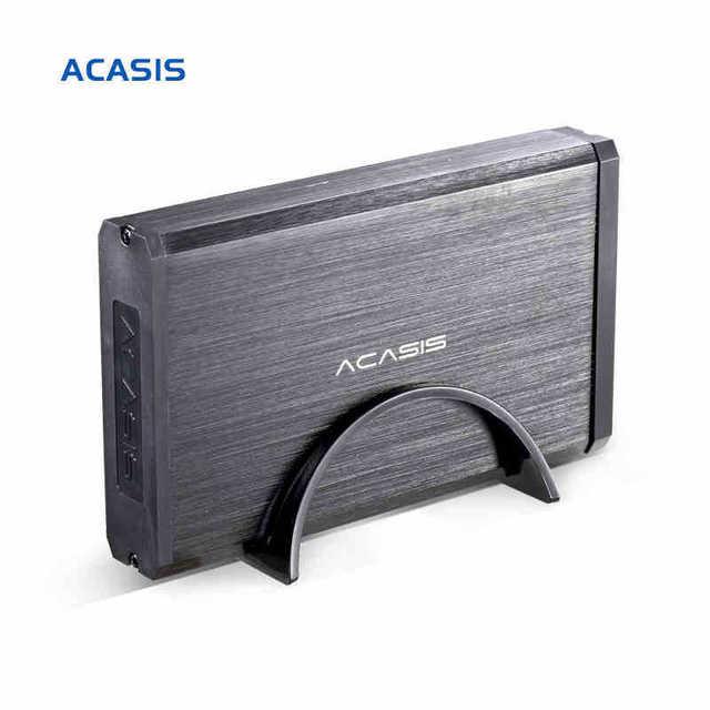 10059TW High Quality Aluminum Alloy Acasis BA-06US 3.5 Inch USB 3.0 To SATA External HDD Enclosure 4TB Hard Drive Case Black