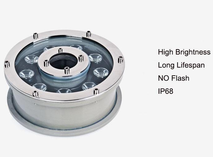 10pcs 6w 9w 12w 15w 18w underwater led light Fountain White/Blue RGB waterproof ip68 for swimming pool AC12V 24V High quality