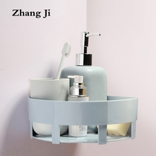 ZhangJi Tri-angle Basket Bathroom Shelves Corner Space Plastic Bathroom Shelf Wall Mounted Bathroom Accessories ZJ226