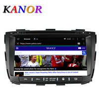 Kanor Android 5.1 quad core kia Sorento 2013 2014 dvd gps navigation car dvd radio video player 2 din in dash car stereo player