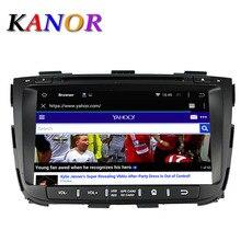 Kanor Android 5.1 quad core kia Sorento 2013 2014 dvd de navegación gps dvd del coche estéreo de 2 din en el tablero de coches reproductor de radio reproductor de vídeo