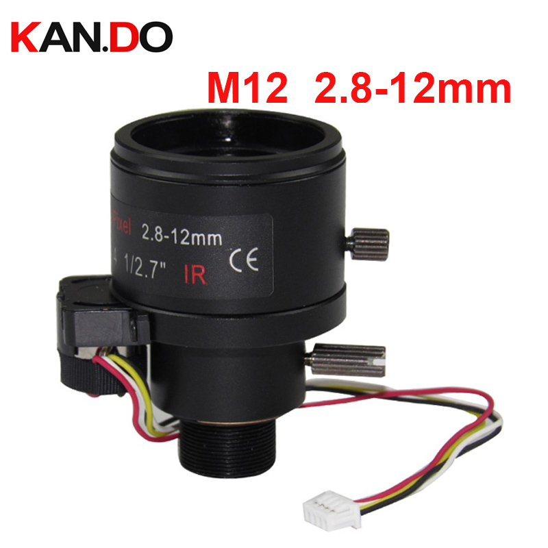 m12 Auto Iris 3.0Megapixel HD 2.8-12mm M12 Varifocal CCTV IR lens for HD IP Camera,manual focus zoom F1.4, 1/2.7 цена 2017