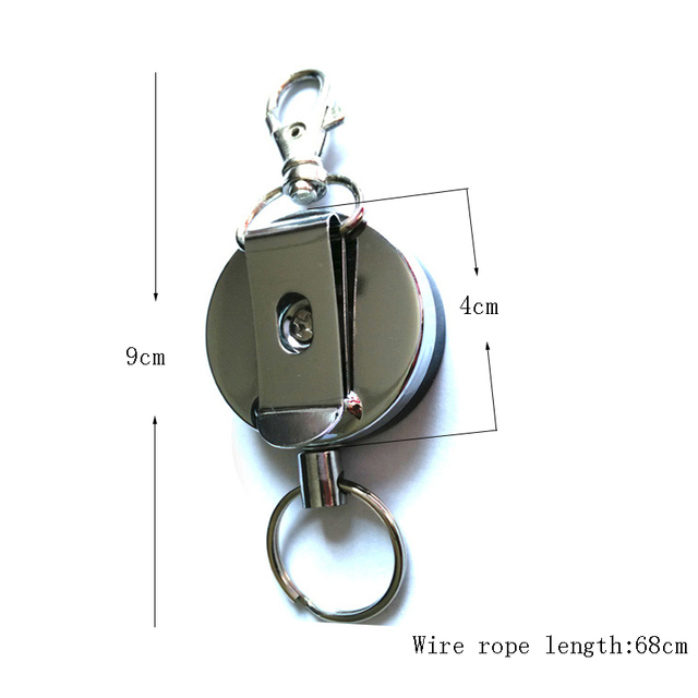 Resilience Steel Wire Rope Elastic Keychain Sporty Retractable Alarm Key chain Anti-lost telescopic  2