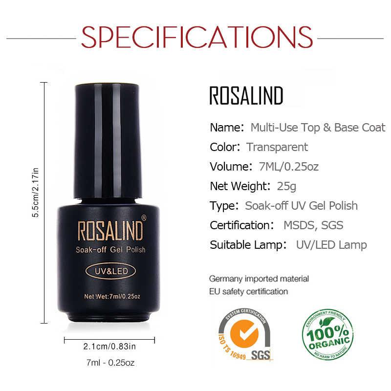 רוזלינד נייל בסיס מעיל 7 ml מבריק אוטם מניקור משרים כבוי UV למעלה בסיס לאורך זמן ציפורניים פריימר ג 'ל לכות