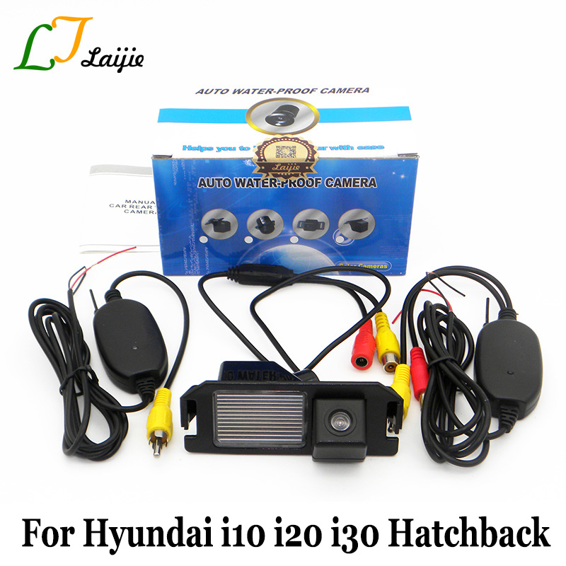 Laijie Wireless Car Parking Camera For Hyundai i10 i20 i30 Hatchback / HD CCD Night Vision Backup Rear View Camera / RCA AUX