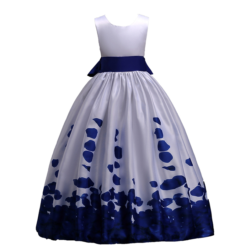 Princess Girl Dress Big Bow Girls Clothes Teens Birthday Wedding Dresses Rose Red Party Costume For 6 8 10 12 14 16 years in Dresses from Mother Kids