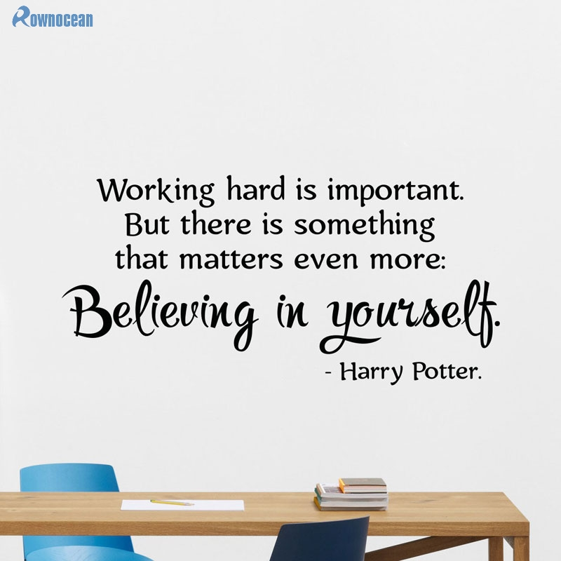 Harry Potter Inspired Quote Wall Art Sticker Believe In Yourself Great Home Gift New Vinyl Wall Decals DIY Home Decoration H-10