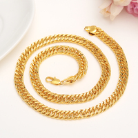 23.58 inches gold filled Chain Voor Mannen Ketting Vintage Gold big chunky Fashion Mens Ketting Cubaanse Sieraden gift