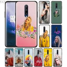 Billie Eilish Phone Case for Oneplus 7 7Pro 6 6T Oneplus 7 Pro 6T Black Silicone Soft Case Cover