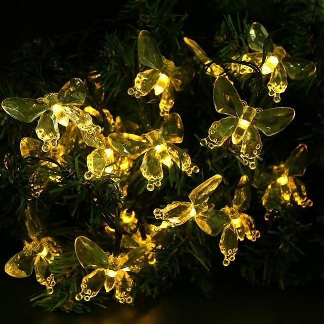 Lichterkette Weihnachtsbaum.Us 14 33 37 Off Lumiparty Girlande Led Weihnachten Außenbeleuchtung Solar Lichterkette Schmetterling Solar Weihnachtsbeleuchtung Für Garten