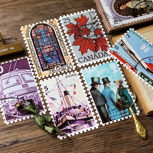 Image 2 - 4packs/lot Original Boxed Postcards Vintage Stamps Creative DIY Birthday Gift Postcard  And For Greeting Card
