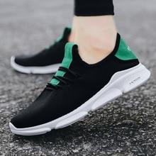 купить 2019 Spring New Men Shoes Fashion Men Casual Shoes Black Sneakers Men Breathable Men Running Shoes Mens Shoes Zapatos De Hombre дешево