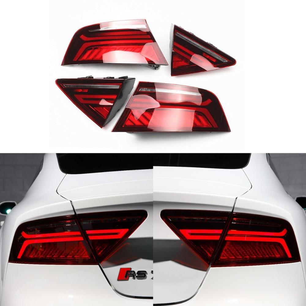 Dynamic Blinker LED Dark Red Tail light Lamp For AUDI A7 S7 RS7 2012 2013 2016