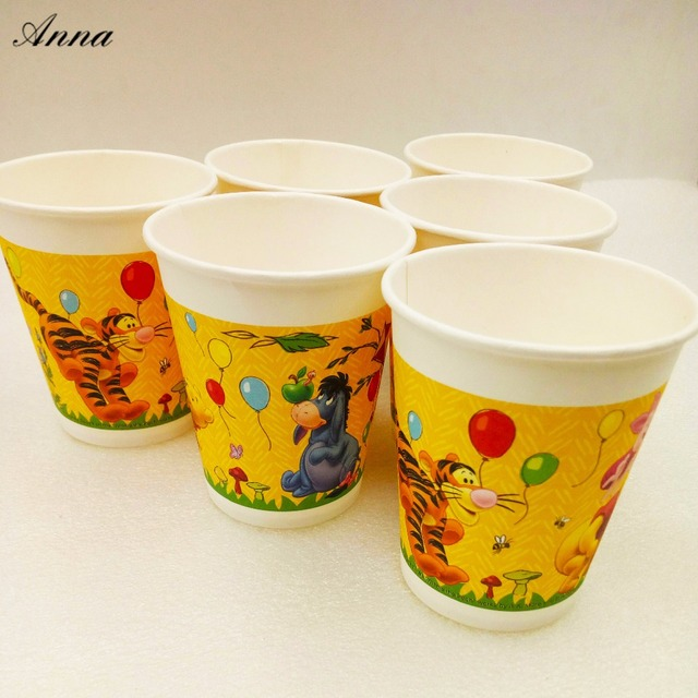 6pcslot Disney Winnie The Pooh Party Supplie Paper Cup Birthday