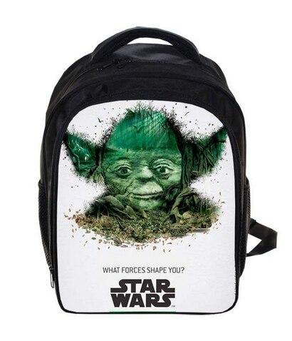 13 Inch Star Wars Jedi Knight Master Yoda Backpack For Boys School Bags Kids Daily Backpacks Children Book Bag Bags Schoolbags star wars clone wars jedi master plo koon 3 75 inch loose figure