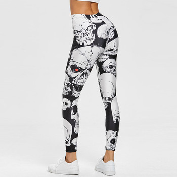 Leggings Women Skull Print Workout Gym