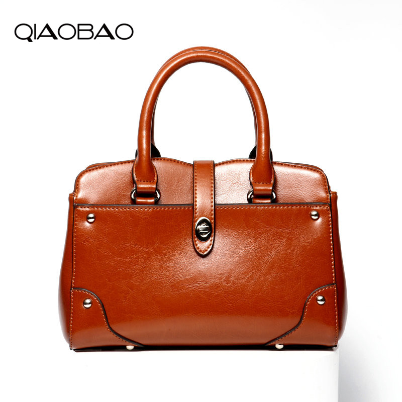 QIAOBAO Hot Handbag Women Casual Tote Bag Female Large Shoulder Messenger Bags High Quality Cowhide Leather Handbag Sac vintage handbag women casual tote bag female large shoulder messenger bags high quality pu leather handbag with fur ball bolsa