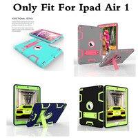 קייס שריון היברידי עבור iPad אוויר 1 ילדים בטוחים כבד עמיד הלם Duty סיליקון גומי הקשיח Case כיסוי עבור Ipad Air1 לוח ipad5 מחשב