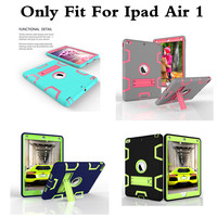 Hybrid Armor Case For IPad Air 1 Kids Safe Shockproof Heavy Duty Silicone Rubber Hard Case