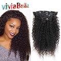 3B 3C Pelo rizado Clip En Extensiones de Cabello Humano Rizado Rizado Clip En Extensiones de Cabello Natural Afroamericano Kinky Cabello Clip Ins