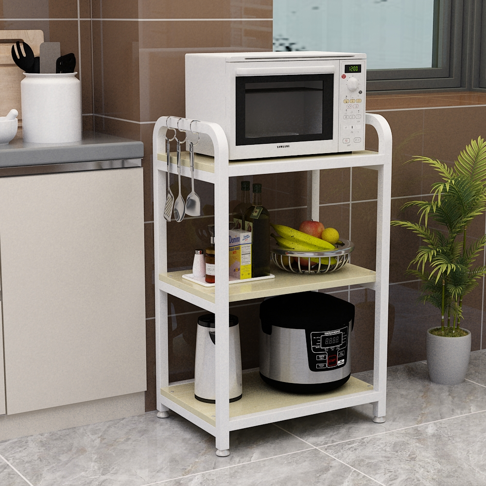 US $110.10 Louis Fashion Kitchen Islands Microwave Oven Landing Multi Storey  Storage Oven, Rack Vegetable Table Multi FunctionKitchen Islands &