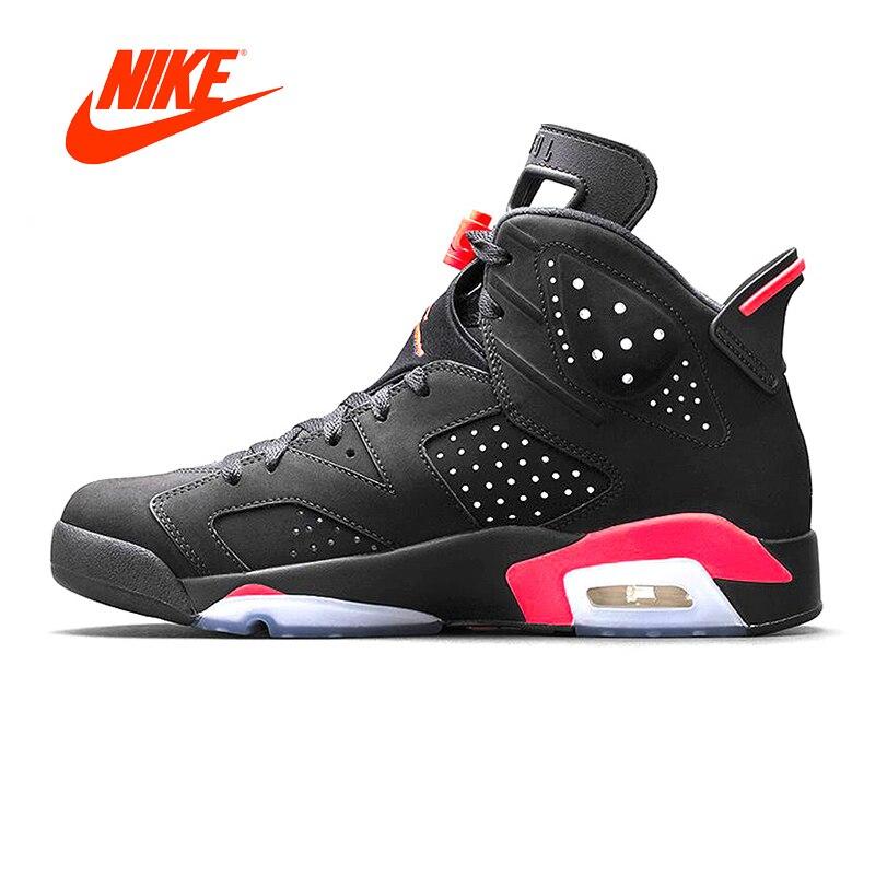Original Nouvelle Arrivée Authentique NIKE Air Jordan 6 Retro UNC Hommes Basket-Ball Chaussures de Sport Baskets En Plein Air De Bonne Qualité 384664-023