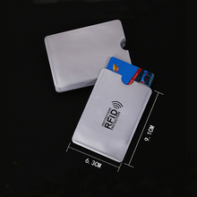 5PC Anti Rfid Blocking Reader Lock Bank Card Holder ID Case Protection Metal Credit Aluminium