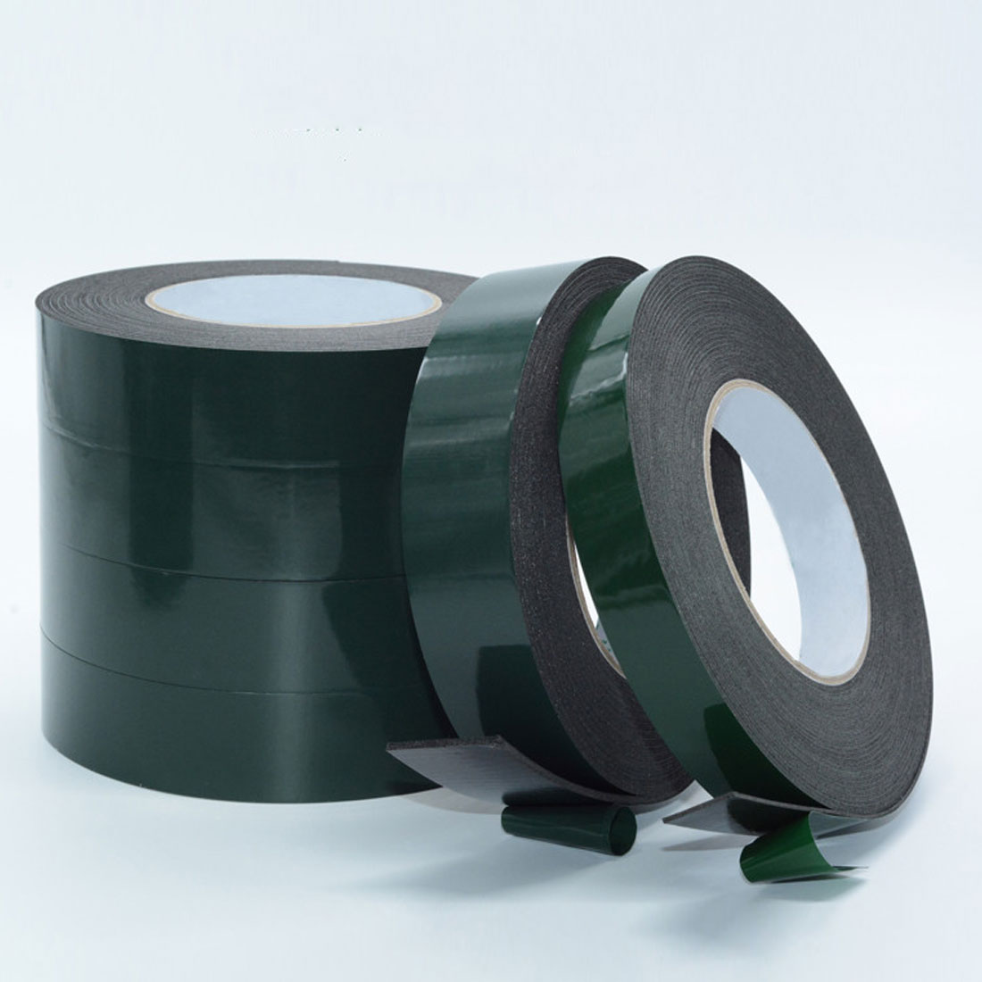 New 1 Pc 10m Length Strong Adhesive Waterproof Double Sided Tape High Quality 10mm Width Foam Green Tape Trim Home Car